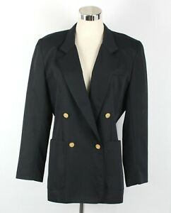 SUZANNE GRAE Womens Jacket Size 10 Blazer Black Lined Pockets Work Office Formal
