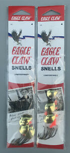 2 Packs Eagle Claw 2 Way Spinner Rigs Size 4 129-4