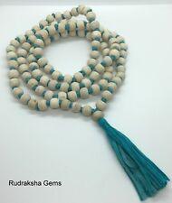 TULSI TULASI Fair Trade MANTRA BASIL BUDDHA WOODEN MALA JUZU BEAD 108 MEDITATION