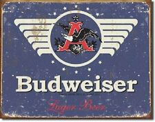 Anheuser Busch Budweiser Bud 1936 Vintage Weathered Style Metal Tin Sign New