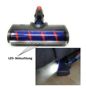 LED+ Elektrische Turbo Bürste mit Softrolle passend für Dyson V7,V8,V10,V11