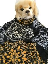 BLACK TAPASTRY , Fuzee Fleece Dog Blankets,Soft Pet Blanket Travel Throw Cover