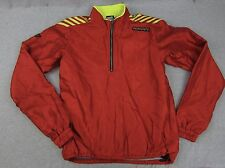 Vintage Descente Red 1/4 Zip Pullover Reflective Jacket Coat M made in Japan