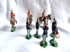 9 soldats de plomb allemands ou autrichiens au défilé - Guerre 1914-1918 - Lot 3