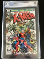 Uncanny X-Men 156 cgc 8.5 Marvel 1982 Starjammers Near Mint WHITE Pages PGX