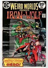 Dc - Weird Worlds #8 Iron-Wolf - Fn Dec 1973 Vintage Comic Book