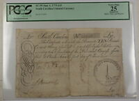 1775 10 Pounds South Carolina Colonial Currency Note SC-99 PCGS VF-25 Apparent