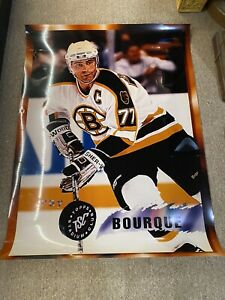 Vintage hockey poster Roy Bourque Boston Bruins Nhl Rare Topps 3x4 Feet