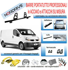 3 Barre Portatutto per Renault Trafic II 03/01> 05/2014 180cm attacchi furgone