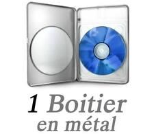 Boitier pour 1 CD/DVD en métal