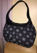Thirty-One (Black/White/Floral) Shoulder Bag-LARGE
