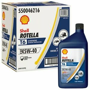 3.785 Liter 4 x Quart Shell Rotella T6 5w-40 Fully Synthetic Engine Oil