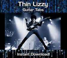 THIN LIZZY ROCK GUITAR TAB TABLATURE INSTANT DOWNLOAD SONG BOOK SOFTWARE