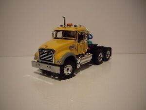 FIRST GEAR 1/50 YELLOW MACK GRANITE MP DAY CAB SAME SCALE AS DIECAST MASTER