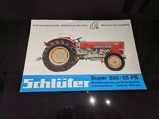 Prospekt Schlüter Super 550/55 PS Broschüre Verkaufsprospekt Verkaufsbroschüre