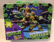 NEW Teenage Mutant Ninja Turtles 48 pieces Puzzle Metal LUNCHBOX TIN TMNT