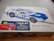 VERY RARE BOXED 1966 MONOGRAM FORD GT SR3210 SCALEXTRIC TYPE SLOT CAR 1/32 SCALE