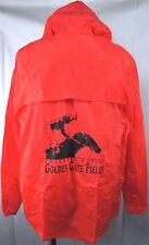 Golden Gate Fields CA Ladbroke Racing Vtg Rain Slicker XL Red PVC Zip SGA 1993