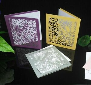 Laser Cut Invitation Cards For Wedding Anniversary Birthday Party 10 Pcs/Lot New