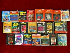 20 Atari 2600 Video Games With Boxes