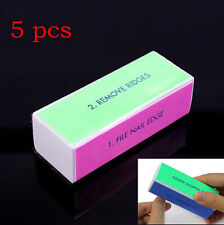 NEW 5 Pcs Nail Art Manicure 4 Way Shiner Buffer Buffing Block Sanding File