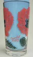 Oriental Poppy Peanut Butter Glass Glasses Drinking Kitchen Mauzy 78-4