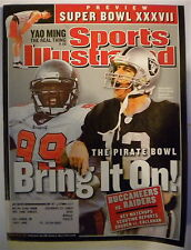 WARREN SAPP / RICH GANNON 2003 SPORTS ILLUSTRATED Magazine SUPER BOWL PREVIEW