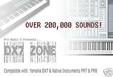 YAMAHA DX7 ZONE CD - SYSEX Sound Patches + Software  -  Over 200,000 Patches