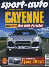SPORT AUTO n°491 Décembre 2002*PORSCHE CAYENNE BMW M5 AUDI RS6 JAGUAR XKR