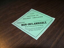 LEHIGH VALLEY SMALL CAUTION NON-INFLAMMABLE  PLACARD