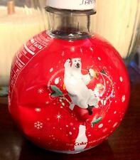 Vintage ROUND ORNAMENT Coca Cola Bottle Holiday 2008 Polar Bear Sealed/FULL