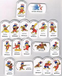 1984 Los Angeles White Sam Olympic Mascot Sports Pin Set of 23