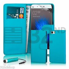 32nd Book Wallet PU Leather Case for XIAOMI Mi5 Screen Protector & Stylus Light Blue