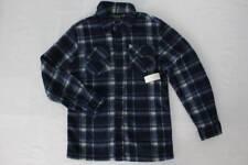 NEW Boys Button Up Shirt Medium 8 - 10 Long Sleeve Top Blue Plaid Super Soft