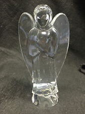 Baccarat France Crystal Glass Angel Praying Nativity Scene Sculpture