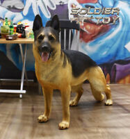"""Free Shipping 1/6 Scale German Shepherd Dog Model for 12"""" Action Figure Soldier"""