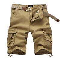 Summer New Mens Sport Cargo Shorts Pants 100% Cotton US Size 28-44 Half Pant