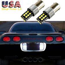 2x 6000K Xenon White LED 1157 Backup Reverse Light Bulbs for Chevy Corvette C5