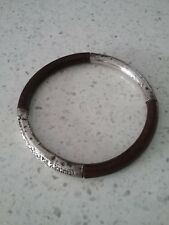 Antique Chinese Bamboo and  genuine Silver Bracelet.