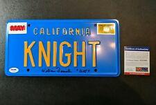 William Daniels PSA DNA Signed Knight Rider License Plate K.I.T.T. rare Kitt