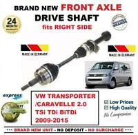 Pour VW Transporter/Caravelle 2.0 TSI Tdi Bitdi 2009-2015 avant Droit Arbre