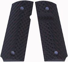 Custom 1911 Grips Compact Officer Spec Ops Red-Black - LOK Grips