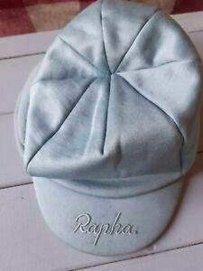 Rapha Light Blue Hat, fits under helmet, covers ears, unisex,