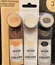 Liquid Shoe Polish Brown/Black/Neutral 0.84 oz ea 3 Pack (1 each color)