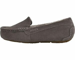 UGG Ansley Thunder Cloud Women's Suede Moccasin Slippers 1106878