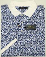 NWT $125 Polo Ralph Lauren Short Sleeve White Blue Floral Shirt Mens