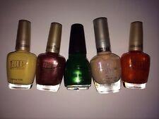 Cover Girl Milani Sinful Colors 5 bottles NEW Nail Polish pink yellow green