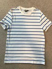 ASOS White Blue Stripe T Shirt Medium