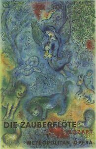 MARC CHAGALL The Magic Flute (Die Zauberflote) 38.5 x 25.75 Poster 1973 Modernis