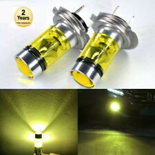 2X H7 5000K Yellow 100W Car LED Fog Light Bulbs Replacement 2323 SMD DRL Lamps